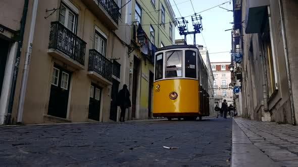 Thumbnail for Lisbon City - Old Street - Tramway Car