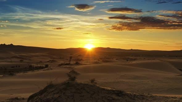 Thumbnail for Aerial View of Beatiful Sunrise in Desert