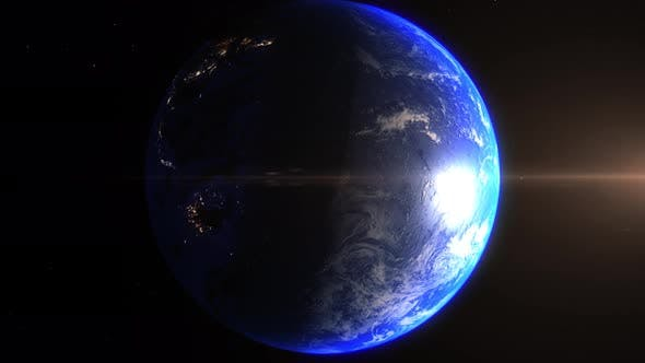 Thumbnail for Realistic Earth Zoom In Night Lights Clouds West Australia