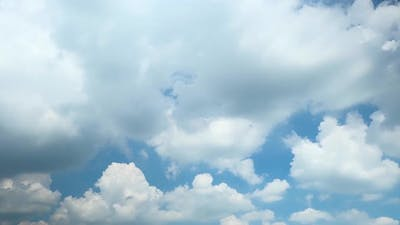 4K Sky Time lapse, Clear very nice soft blue sky, white rolling