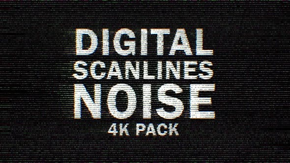 Thumbnail for 4k Color Digital Scanlines Noise 9 Pack