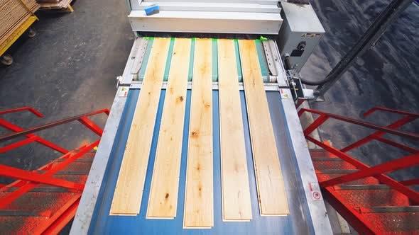 Innenausstattung einer Laminatproduktion