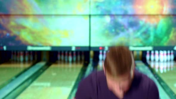 Thumbnail for Man Shows His Thumbs Up at the Bowling Alley