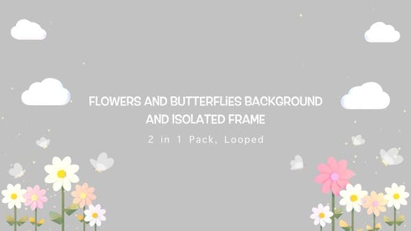 Thumbnail for Flowers And Butterflies Pack