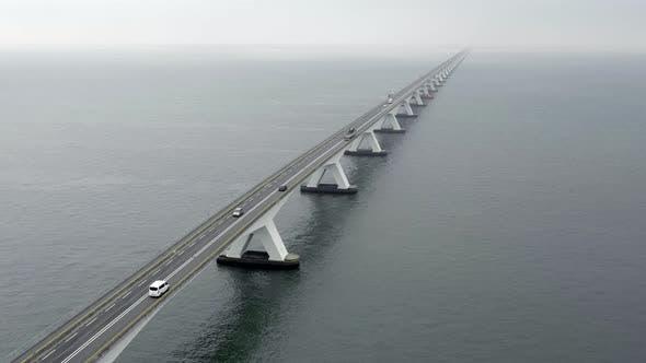 Zeelandbrug Bridge the Longest Bridge in the Netherlands