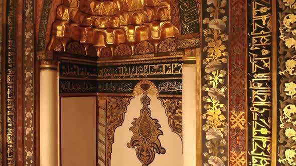 Interior of World's Most Beautiful Giant Historic Great Mosque