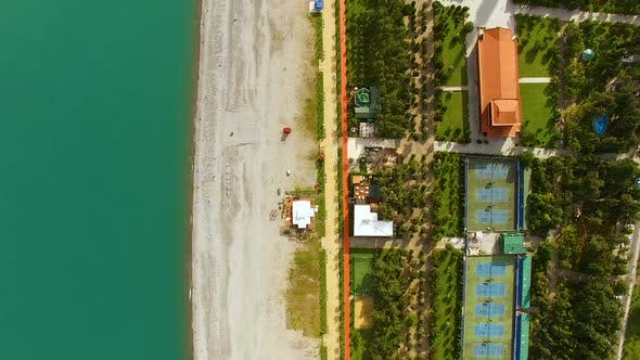 Thumbnail for Coastline in Batumi Georgia, Seafront Area with Beach and Azure Sea, Tourism