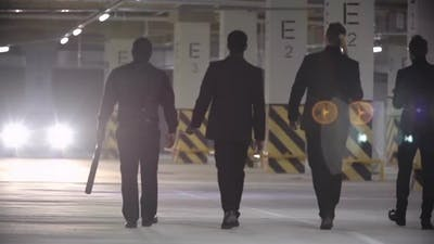 Gangsters Walking with Baseball Bats