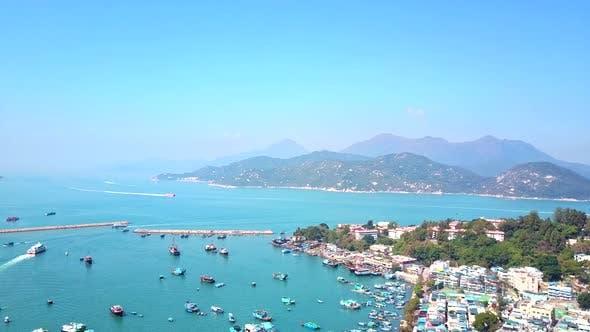 Thumbnail for Top view of Cheung Chau island in Hong Kong