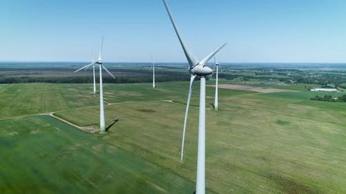 Windfarm In A Daytime