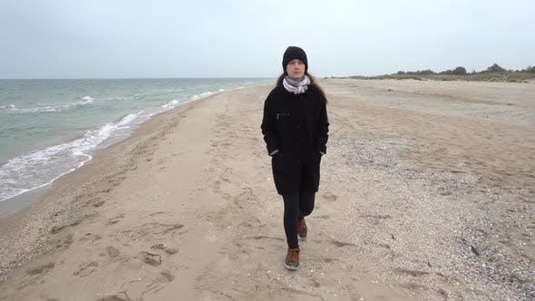 Thumbnail for The Girl Walks on the Beach