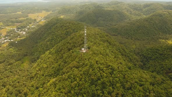 Telephone Signal Tower in Mountains