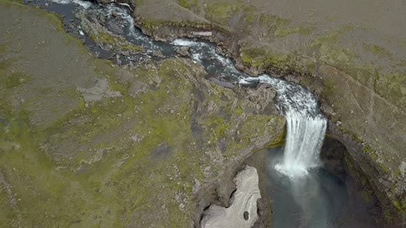 Thumbnail for Aerial Waterfall in Iceland