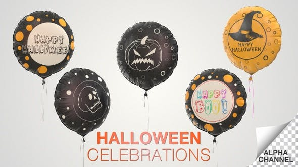 Thumbnail for Halloween Celebration Balloons