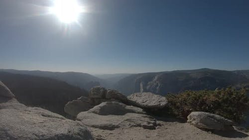 View from Sentinel Dome in Yosemite National Park, California, USA