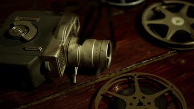 old retro movie camera