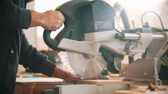 Thumbnail for Carpentry Working - Cutting the Plywood Using Circular Saw