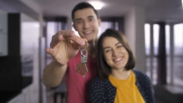 Thumbnail for Male Hand Shaking Keys To New House Indoors