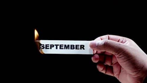 Burning Paper Writing September