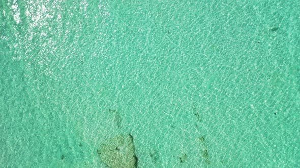 Thumbnail for Daytime flying abstract view of a white paradise beach and aqua blue water background