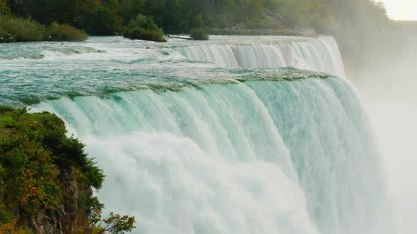 Thumbnail for Slow Motion Video: Incredible Niagara Falls. View From the American Shore.