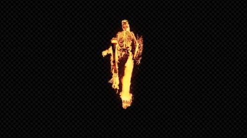 Burning 3D Skeleton Run 3