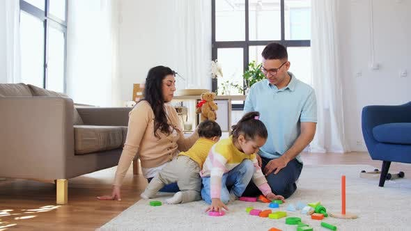 Thumbnail for Happy Family with Children Playing at Home