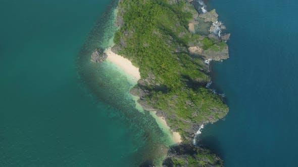 Seascape of Caramoan Islands, Camarines Sur, Philippines.