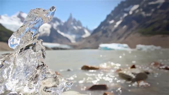Small Iceberg at Laguna Torre Lake, El Chalten, Argentina.
