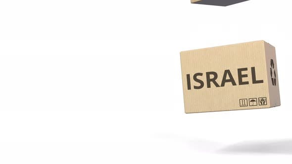Thumbnail for Falling Boxes with PRODUCT OF ISRAEL Text
