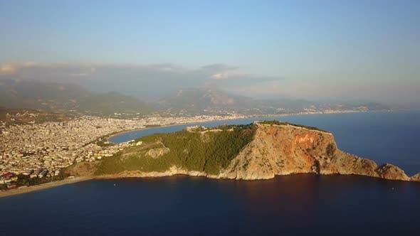 Thumbnail for Mediterranean Sea Coast and Touristic Beach Alanya Peninsula, Antalya, Turkey