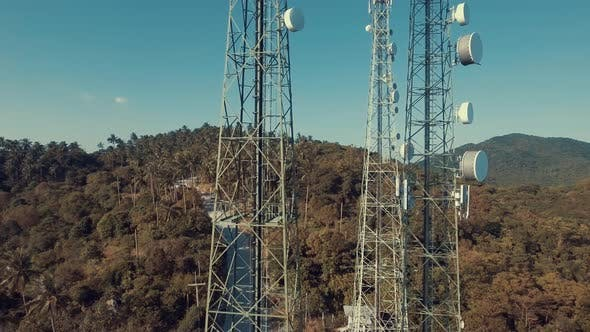 Thumbnail for Aerial Of Telecommunication Tower