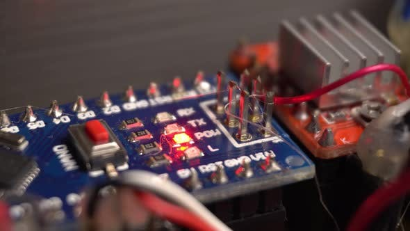 Microcircuits and Wires Closeup