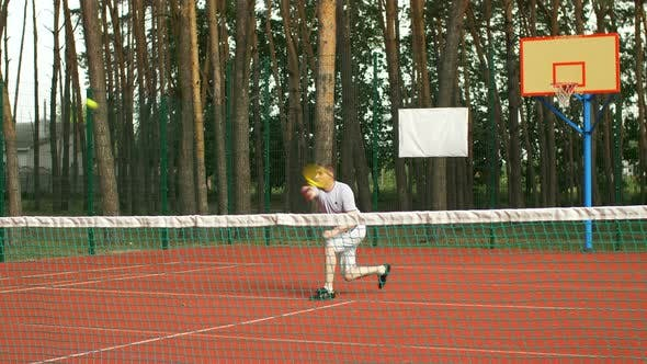 Thumbnail for Healthy Lifestyle Man Playing Tennis Outdoors