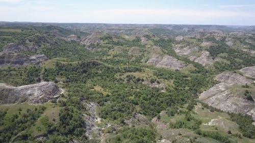 North Dakota Badlands Topography Landform Juniper Summer Woody Draws Canyons