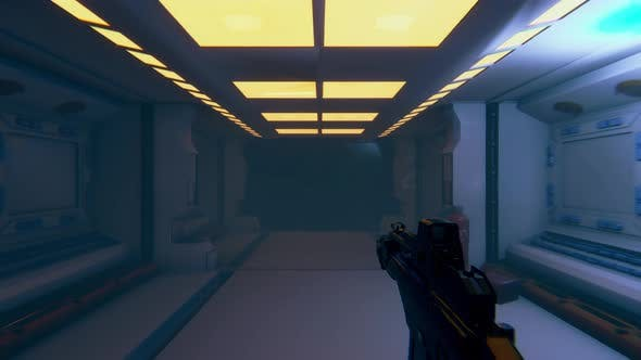 First Person 3D Mock Up von Sci Fi Space Shooter