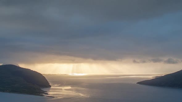 Thumbnail for Sunset sky atmospheric Norway nature timelapse dramatic