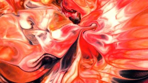 Peinture Peinture Colorée Liquide Mouvement Artistique