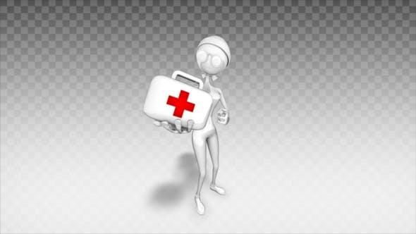 Thumbnail for Cartoon 3D Woman - Show Medicine