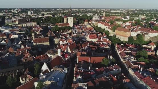 Thumbnail for Air View of Tallinn Old Town 2