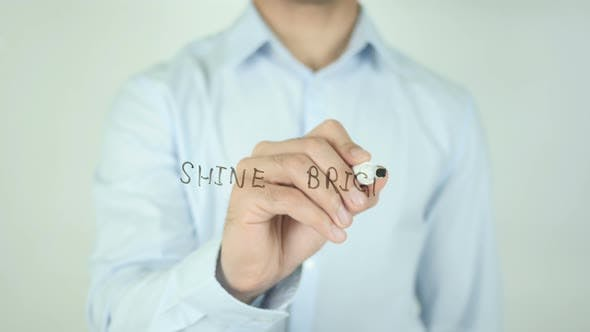 Thumbnail for Shine Bright, Writing On Screen