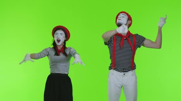 Thumbnail for Mimes Play Musical Instruments On A Transparent Background
