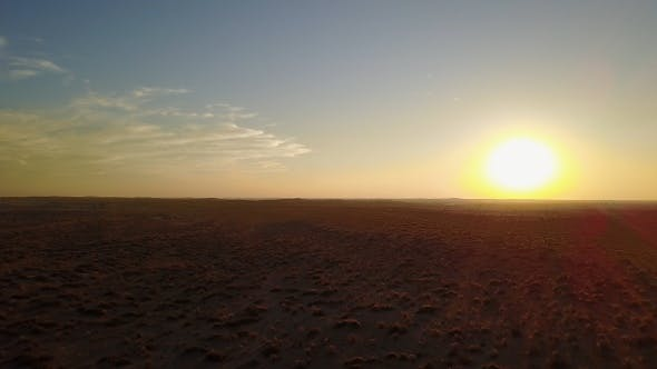 Thumbnail for Desert at sunset. Landscape, India.