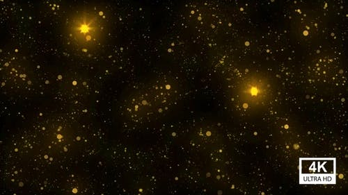 Golden Particles 4K