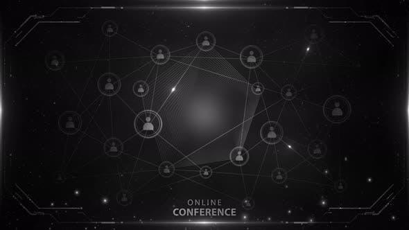 Online Conference Background White 4k Loop