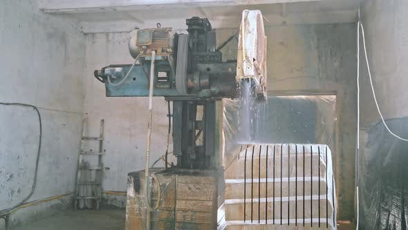 Thumbnail for Granite Sawing Machine in a Factory