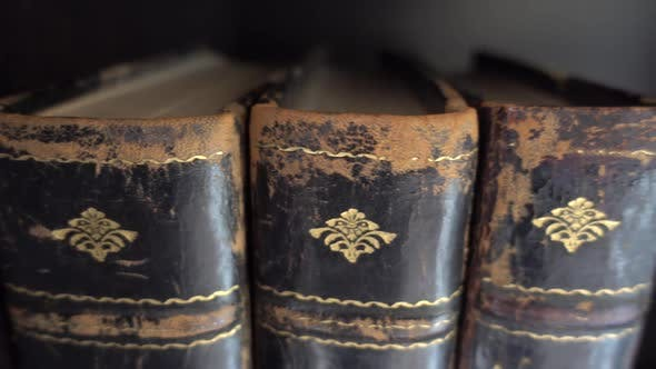 Thumbnail for Passing Row Of Antique Vintage Books