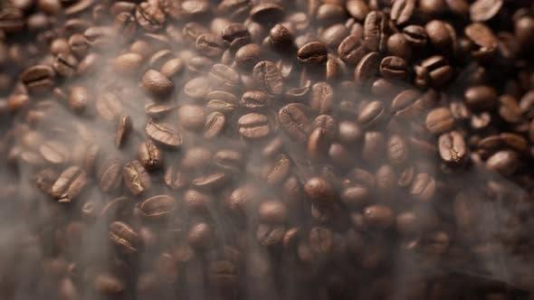 Dark Fragrant Coffee Beans
