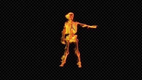 Fiery Skeleton Club Dance
