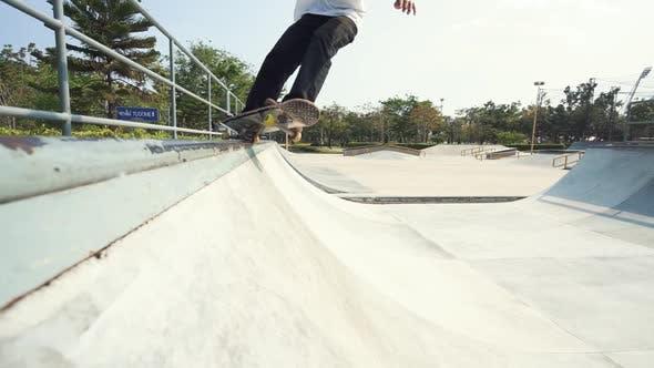 Thumbnail for Skater Sliding On Skatepark Ramp